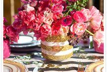 Casamento - decoração rosa
