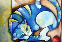 Animals - Cats - On Mats & Cushions