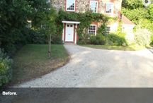 Previous project: Neo-Georgian house / The main brief to provide a welcoming entrance to enhance the property.  Many tons of hardcore were removed and replaced with equally as many tons of topsoil to provide planting areas, which now surround block pathways. A small lawn area to the left of the path remains under some existing mature trees.   http://www.acorngardenservices.co.uk/projects/front-gardens/shared-driveway-garden/