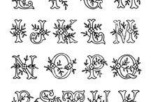 letras monograms