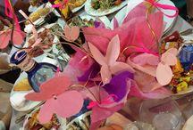 Decoracion fiestas diy / Centros de mesa, fotocall, lazos y mariposas