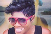 Black women short hair