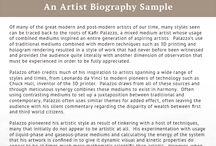 artist biography template