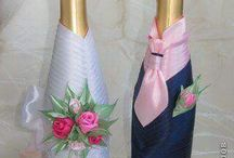 Bottiglie vestite da sposi