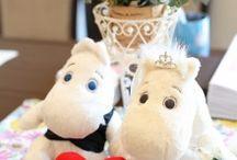 ムーミンがテーマの結婚式 / 「ムーミンがテーマのウェディング」を実現された、先輩花嫁さんの実例写真を集めました。シェリーマリエでは、ムーミンぬいぐるみに着せるドレスとタキシードを扱っています。 http://tedukuri-wedding.com/blog/kisekae/m-size/445/