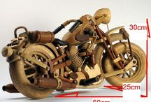 Hand-made moto harley davidson / hand-made of wood 30 species motorcycle