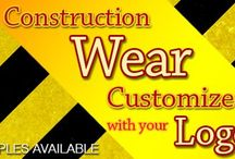 Custom Construction Apparel and Work Clothing / Buy printed or logo embroidered, custom construction apparel at EZ Corporate Clothing 1-877-304-1899; work shirts, jackets, sweatshirts, hats, and safety. http://www.ezcorporateclothing.com/pages/construction
