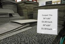 DIY Carpet Tiles / The Tacoma/Pierce County Habitat for Humanity Store has a steady stream of carpet tiles at a great low price! This board is full of ideas to repurpose these items!