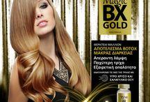 Magic Bx Gold / Απέραντη Λάμψη Παχύτερη τρίχα Εξαιρετική απαλότητα!  Μπότοξ μαλλιών για άμεση πάχυνσης της τρίχας και μαλλιά πιο πλούσια, λαμπερά, γεμάτα σώμα!  Αποκλειστικά από την Tahe!
