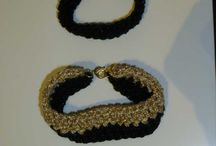 my jewellery / i am making crochet jewellery , you can find them at my gallery the amorgosartgallery.gr