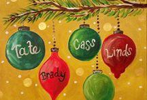 Christmas paint night