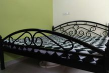 Heavy wrought iron bed