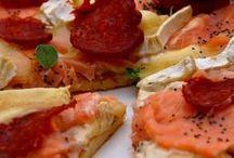 pizza, tarte et cake salé