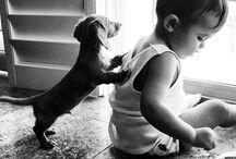 Słodkie dzieci i zwierzęta ;3