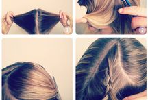 Hair Styles, Tips, And Tricks / Hairstyles, hair tips, and hair tricks for various types of hair. / by Michelle