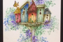 Art Impressions watercolour cards