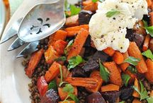 Ricotta recipes / Ricotta salad with roasted vegetables