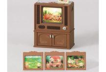 Sylvanian Families Luksusowy Telewizor Kolorowy / Wyjątkowe zabawki dla dzieci marki Sylvanian Families