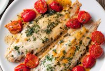 Peixes e frangos