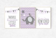 purple nursery theme ideas lavender gray / Purple nursery ideas - lavender, lilac, baby girl ideas