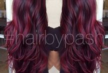 Mahogany red hair