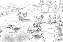 Sares Eugen / Illustratoren Storyboard , Layout , Fein-Illustration , Animatics Illustrationsagentur