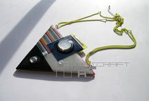 My recycling art / Handmade jeweleries & accessories from recycled electric materials