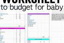 Baby Budget / Budget sheets, ways to save, items you don't actually need... we've got all things budgeting right here.