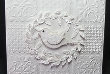 Embossing & scoring / Embossed items, instructions and using scorboards  - techniques and examples