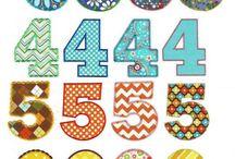 Applique Number & Letter templates