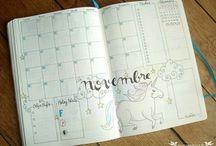 Calendrier mensuel bullet journal