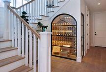 Wine room understaircase