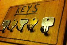 Sleutel rek! / Leuke ontwerpenn met Oude Sleutels!