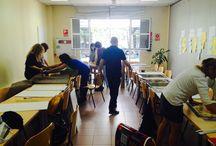 Sesión de montaje de la maleta y las fichas. CEP de Sevilla