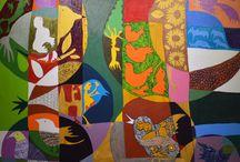 """Exhibition """"CIPRIANO SOUZA"""" / """"Nos trabalhos do artista brasileiro Cipriano Souza a perspectiva é conduzida pela metáfora. A realidade é composta em duas dimensões, uma dos animais, natureza, pessoas e objectos, e outra composta por elementos geométricos. Apesar da existência de apenas duas dimensões, somos induzidos a perceber ali profundidades, uma espécie de retratos fragmentados, que geram a ilusão de uma montagem que ultrapassa o limite da tela"""" (José Roberto Moreira, curador e galerista)."""