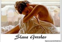 ⊱ Slava Groshev ⊰ / ≻ Slava Groshev ~ Russia, 1967 ≺ Slava Groshev  russian painter is quite simply an outstanding artist producing masterworks that should grace any serious collection of art. Ever since he has been producing work on a range of subjects, including not only religious themes, but more traditional landscapes and realist figurework that often comes with a twist.