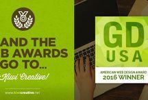 2016 GDUSA American Web Design Awards / Kiwi Creative's Winning Entries in the 2016 GDUSA American Web Design Awards