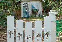 Deck Gates, privacy, deck flowers / Dressing up the Deck / by Patricia Starnes