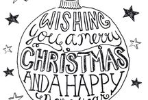 Handlettering Kerst