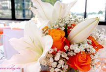 Un mariage pop et orange ! / Découvrez les images d'un mariage haut en couleurs avec ce thème orange sur la Seine