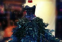 Christmas Window / Look at this fabulous gown made up of christmas tree branches and a swarovski crytal corset