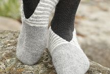 Tricot chaussons/chaussettes