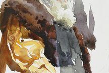 Watercolor / 水彩画など