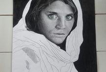 dessins de Solène / Portraits au crayon réalisés à partir de photos.