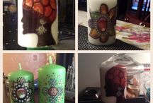 Zentangle candles