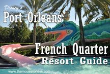 Disney's Port Orleans French Quarter Resort - A Moderate Walt Disney World Resort / A Moderate Resort. Resort maps, discount codes, savings, information, room layout, resort guides, tips, fun facts, dining, menus, food, photos, room rates, vacation packages, recreation, pools, kid's activities, and other important information to help you plan your Disney vacation.  Enjoy the Big Easy style and the small size.  You will also love Dubloon Lagoon the pool with a dragon slide.