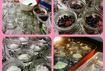 Dessert serveras i Burkar