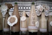 Twine wine bottles / by A Geka