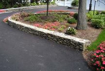 Natural Stone Hardscapes / A collection of natural stone hardscape designs in front yards and backyards.