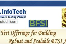 Insurance Testing / QA Info Tech has experience and expertise testing applications in the Financial, Banking and Insurance domains. Our domain experts fully understand the complexity of BFSI applications involving legacy systems, asynchronous messaging, voluminous test data, multiple subsystems and data sources, complex authentication systems. Our meticulously designed testing processes ensure high test coverage and effective defect removal.  To know more visit: http://qainfotech.com/bfsi.html